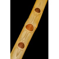 Overtone Flute Koncovka - Tone A - with inlay