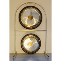 "Double Arched Gong Stand for 36"" gongs"