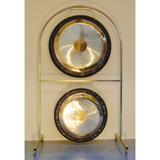 "Double Arched Gong Stand for 30"" and 36"" gongs"