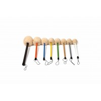 Gong Mallets - Professional Colour Coded - M1, M2, M3