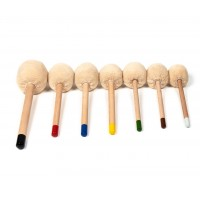 Gong Mallets- Professional Wooden Short- WM6